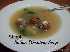 Simple Italian Wedding Soup » Saving 4 Six