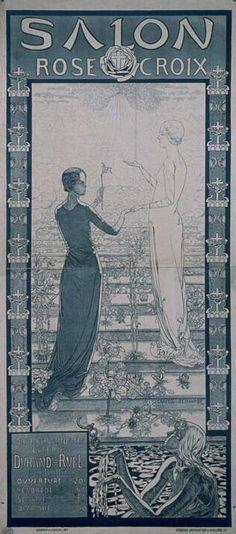 Salon rose croix 3 me salon 1894 affiche gabriel for Salon rose croix
