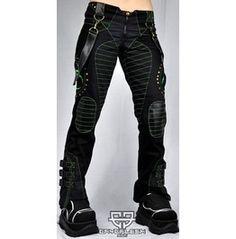 Cryoflesh Biohazard Decay Cyber Punk Industrial Pants F
