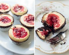 Cherry Cheesecake Brownie Cupcakes -  From_Valeries_Kitchen
