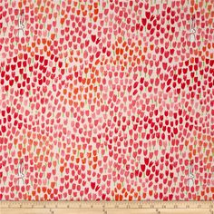 Michael Miller Sommer Tulip Tangled Bloom from @fabricdotcom  Designed by Sarah Jane for Michael Miller Fabrics, this cotton print fabric is perfect for quilting and craft projects. Colors include shades of pink, orange and green.