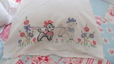 vintage pillow case