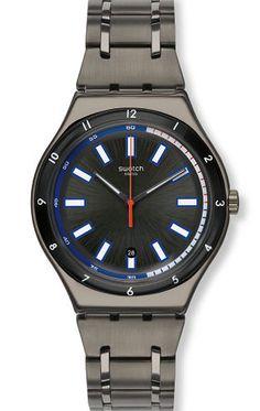 reloj swatch hombre smokeygator ywmg