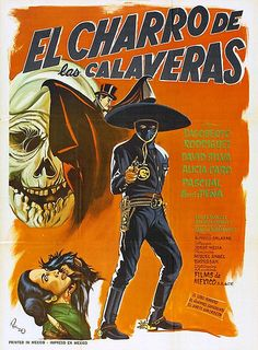 The Rider of the Skulls – original title: El Charro de las Calaveras – is a 1965 Mexican Western horror feature film written and directed by Alfredo Salazar (writer … Old Film Posters, Horror Movie Posters, Movie Poster Art, Horror Movies, Retro Posters, Cult Movies, The Skulls, Art Trading Cards, Charro