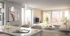 Das Neubauprojekt bietet Etagenwohnungen mit 2 bis 4 Zimmern und Wohnflächen von 66 m² bis 125 m², sowie Penthousewohnungen mit 2 bis 5 Zimmern und Wohnflächen von 91 m² bis 188 m².