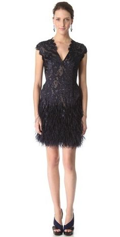 9432d1b8fe5 Matthew Williamson Flocked Feather Dress [as if i could ever afford it]