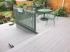 A Modern Environmentally-Sourced Alternative To Traditional Decking, Supplied To The UK & Ireland. Decking Fence, Decking Area, Fence Landscaping, Deck Railings, Deck Design, Garden Design, Conservatory Interiors, Timber Deck, Garden Makeover