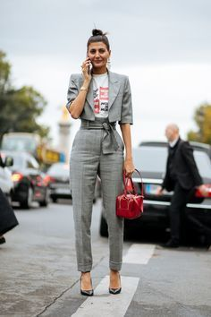 The belt and smaller length of the blazer emphasize the waist. It will please women who like to accentuate their waist and also women who wear clothes that slim their body.
