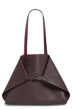 Akris 'Medium AI' Reversible Leather Shoulder Tote available at #Nordstrom