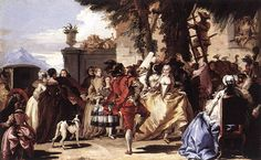 'A dance in the country' Giovanni Domenico Tiepolo (1755) Image type: Realism. It showing how exactly the nobility dressed and acted. Subject matter type: Images of Everyday life. Represents a common among society activity in the 1700s, that is dancing.