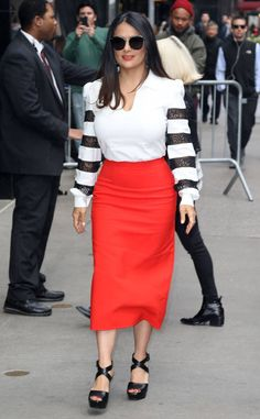 <p>Salma in the city! The star pays a visit to <em>Good Morning America</em> in The Big Apple.</p>