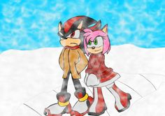 Shadow and Amy Winter Walk by ReaperGun on DeviantArt Shadow And Maria, Shadow And Amy, Winter Walk, Amy Rose, Walking By, Sonic The Hedgehog, Marvel, Deviantart, Artist