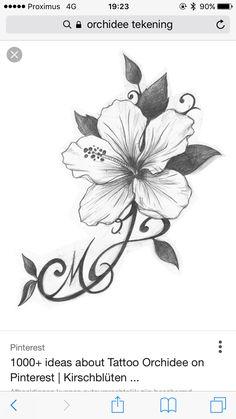 orchid tattoo tattoos pinterest tatouages dessins. Black Bedroom Furniture Sets. Home Design Ideas