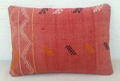 14x20 BOHEMIAN  Home Decor Embroidered Large Red by pillowsstore, $46.00