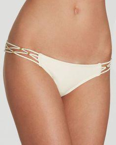 PilyQ Keshi Braided Sides Bikini Bottom