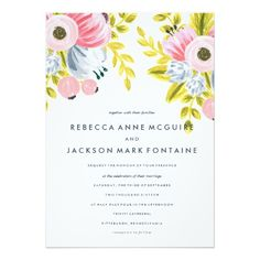 Customizable Invitation made by Zazzle Invitations. Personalised Wedding Invitations, Fall Wedding Invitations, Zazzle Invitations, Personalized Wedding, Jackson, Watercolor Wedding Invitations, Spring Blooms, Create Your Own Invitations, Floral Watercolor