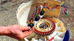 Free power- How to convert an old washing machine into a water powered g...