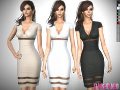 .:311 - Medium Transparent Dress:. Found in TSR Category 'Sims 4 Female Everyday'