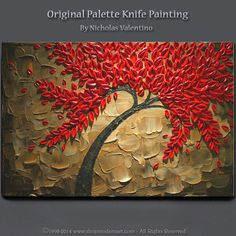 Your place to buy and sell all things handmade Texture Painting On Canvas, Palette Knife Painting, Acrylic Painting Canvas, Glass Painting Designs, Paint Designs, Diy Furniture Easy, Furniture Ideas, Pista Shell Crafts, Large Canvas Art