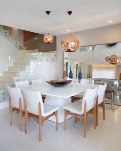 Contemporary Dining Room Ideas to Inspire You Dining Room Table, Dining Area, Dinner Room, Home Living, Dining Room Design, Diy Home Decor, Sweet Home, House Design, Decoration