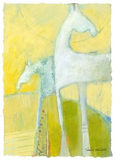 Abstract Pony Original Painting by ShelliWalters on Etsy, $120.00