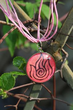 Pink Fire Nation Necklace by zeldalilly on Etsy, $20.00