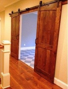 Sliding Barn Doors for basement