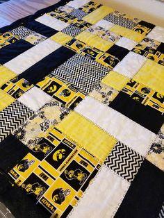 Iowa Hawkeyes crib quilt!