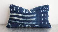 African Indigo Pillow Cover 12x20 by ThreadTooth on Etsy