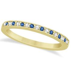 Semi-Eternity Pave-Set Channel Design Blue Topaz and Diamond Wedding Band in 14k Yellow Gold 0.29ct, http://www.amazon.com/dp/B00LPVZTTK/ref=cm_sw_r_pi_awdm_kEM0ub07GDQ3E