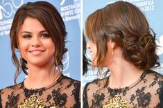How gorgeous is Selena Gomez's chignon? SO cute!