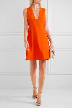 Stella McCartney - Stretch-cady Mini Dress - Orange - IT40