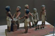Ancient Egyptian model of beer making.