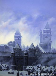 """Winterfell (from GRRM's """"A Song of Ice and Fire""""), by Ted Nasmith"""