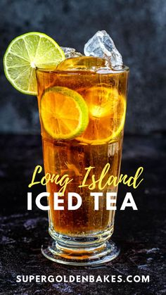 The Long Island Iced Tea is THE ultimate refreshing summer cocktail. A heady cocktail made with tequila, rum, vodka, gin, triple sec and topped with a splash of cola. Learn how to make the classic Long Island drink plus a couple of fun variations. Long Island Cocktail, Long Island Tea, Iced Tea Recipes, Alcohol Drink Recipes, Cocktail Recipes, Triple Sec, Iced Tea Cocktails, Cocktail Drinks, Iced Tea Pitcher
