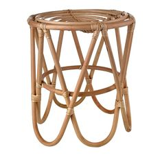 Stool paperclip rattan natural sold by pols potten, http://vps18379.public.cloudvps.com.