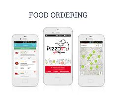 Our latest developed #mobile #application for online food delivery. See more complete works here...