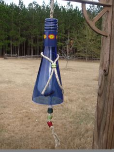 Recycled Wine Bottle Wind Chime by FireAntDesign on Etsy, $20.00