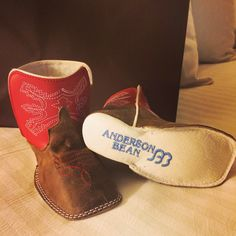 Easton's 1st pair of cowboy boots from mommy and daddy !! Anderson Bean Infant boots
