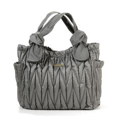 Timi and Leslie Marie Antoinette Diaper Bag in Silver. One of the most popular designer diaper bags that come in affordable price... #diaperbagblog