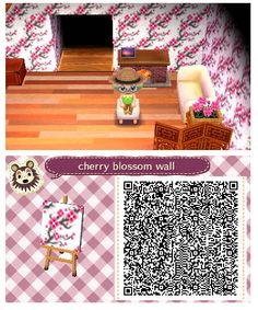 Cherry Blossom Wall by Quirkberry - Animal Crossing: New Leaf