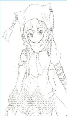 Back to normies (Casual type ISIS-chan art)[ASCII] by…