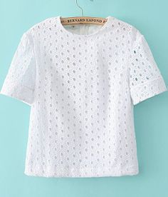 Flounce Sleeve Keyhole Back Eyelet Top - Her Crochet Lace Top Dress, Blouse Dress, Modern Outfits, Classy Outfits, Latest Saree Blouse, Fancy Blouse Designs, African Fashion Dresses, Lace Tops, White Tops