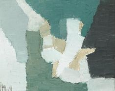 Nicolas de Stael, composition,1949 ~~ art, artist, painter, painting, green, France
