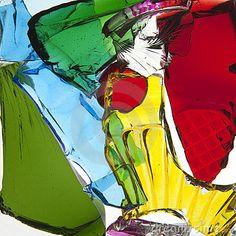 Gebroken Stukken van Gekleurd glas
