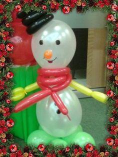 Hombre de nieve en bombas