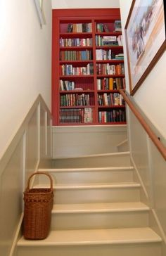 Keasey Interior Traditional Staircase Bookcase On First Landing Add A Sunny  Window Seat!