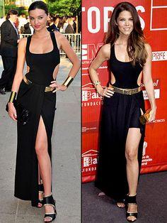 MIRANDA VS. JUANA    Miranda Kerr y Juana Acosta mostraron mucha sensualidad con este modelo de Michael Kors. La supermodelo australiana se lo puso en junio del año pasado para asistir a los Premios de la CFDA, mientras que la actriz española lo lució esta semana en los premios de la Unión de Actores, en Madrid.