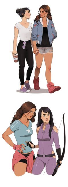 America Chavez x Kate Bishop | Young Avengers fan art by systemflaw