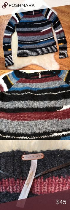 Free people knit sweater Free People multicolored knit sweater, size xs, great condition!👍🏻👍🏻 feel free to ask questions 😊 Free People Sweaters